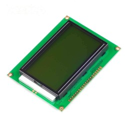 12864 128x64 Pixel Graphic Display LCD with Yellow Backlight