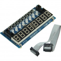 TM1638 8 each 7 Segment Display, LED and Button Module