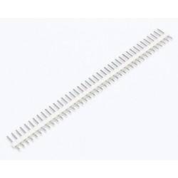 "2.54mm 0.1"" Pitch 1x40 40 Pin Male Straight Breakaway Pin Header - White"