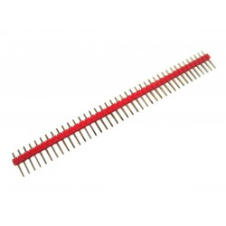 """2.54mm 0.1"""" Pitch 1x40 40 Pin Male Straight Breakaway Pin Header - Red"""