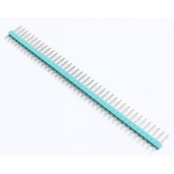 "2.54mm 0.1"" Pitch 1x40 40 Pin Male Straight Breakaway Pin Header - Light Green/Blue"