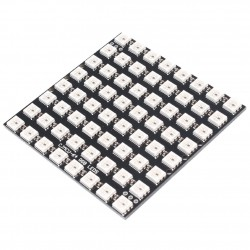 64bit 8x8 5050 WS2812 Addressable RBG LED Square Matrix, NeoPixel Compatible