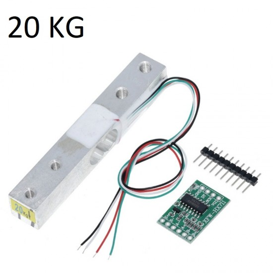 20KG Load Cell Weight Sensor and HX711 AD Module Kit