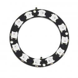12bit 12 x 5050 WS2812 Addressable RBG LED Ring, NeoPixel Compatible