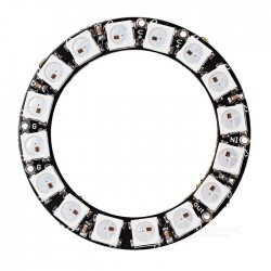 16bit 16 x 5050 WS2812 Addressable RBG LED Ring, NeoPixel Compatible