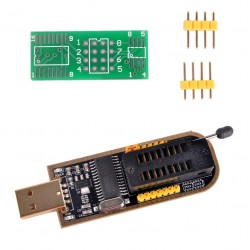 24 and 25 Series EEPROM and SPI Flash  8 and 16 Pin USB Programmer CH341A