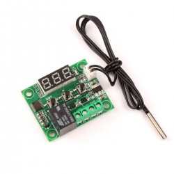 12V DC Digital Cooling and Heating Temperature Controller -50-110 °C w/ 10A Relay and Waterproof Probe