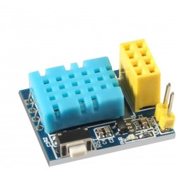 DHT11 Temperature and Humidity Sensor and ESP-01 ESP8266 WiFi module Pair
