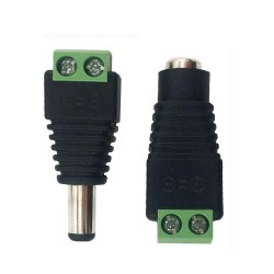 5.5x2.1mm Male and Female Barrel Jack Connectors Screw Terminal