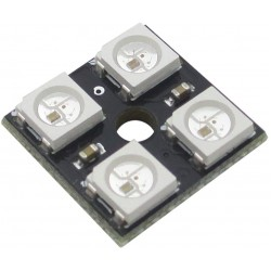 4 Bit 4 x 5050 2x2 WS2812B Addressable RGB LED Board, NeoPixel Compatible