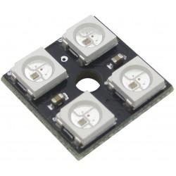 4 Bit 4 x 5050 2x2 WS2812B Addressable RGB LED Board, NeoPixel Compatible