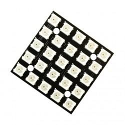 25 Bit 5x5, 5050 WS2812B Addressable RGB LED Matrix, NeoPixel Compatible