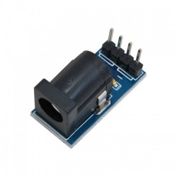 5.5 x 2.1 mm Barrel Jack Connector to Dip Breakout Board Adapter
