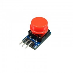 12x12mm Large Tactile Push Button Adapter Board Key With Red Cap