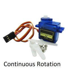 SG90 Continuous Rotation 9g Micro Servo Motor for Arduino