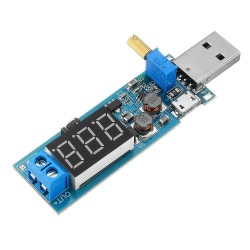 DC Step Up Down Boost Buck Converter USB A and Micro In 1.2-24 V Out
