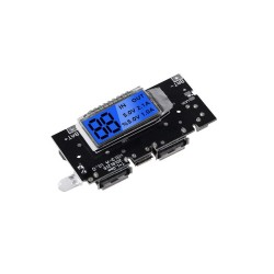 DIY 18650 3.7V Dual USB Battery Power Bank Module with LCD